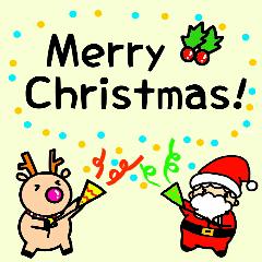 サンタとトナカイ~クリスマススタンプ~