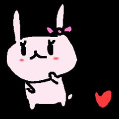 うさぎ恋愛中で三角関係!? love rabbit
