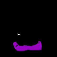 シンプルな黒猫ダンディのスタンプ