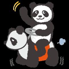 [LINEスタンプ] greeting_pandaの画像(メイン)