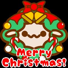 クリスマスだよ!ひつじさんスタンプ